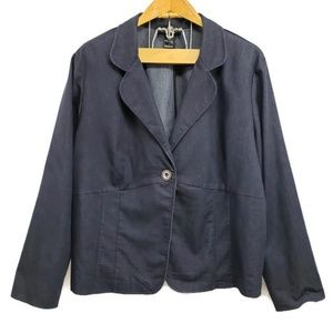 Ashley Stewart Plus Size Denim Blazer 24